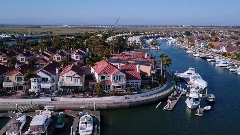 Aerial Photography and Videography of a Residential Property in Huntington Harbour, CA