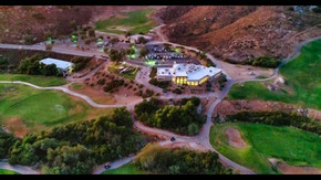 Aerial Photo of a golf course at dusk, Orange County, CA