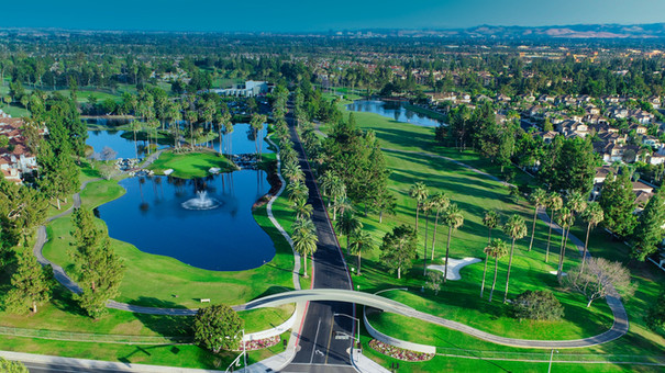 Tustin Ranch Golf Course Aerial Photograph