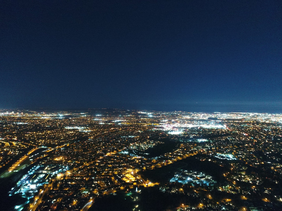 Dusk Aerial Photograph of Orange County California