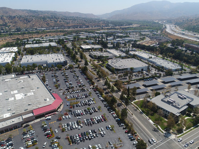 Costco Parking Lot Aerial Photograph