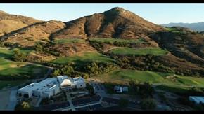 Golf Club in Corona, California Aerial Photograph