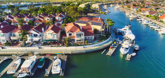Huntington Harbour Real Estate Aerial Photography