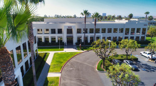 Aerial Drone Photograph of a Building in Irvine, CA