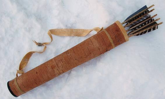 Iroquois Style Quiver in Birch