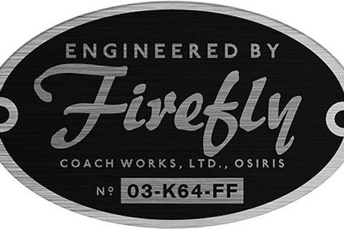 Firefly Builder's Plaques Sticker Set