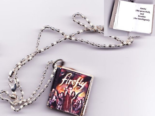 Firefly Book Necklace