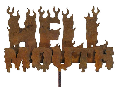 Hellmouth Steel Yard and Garden Sign
