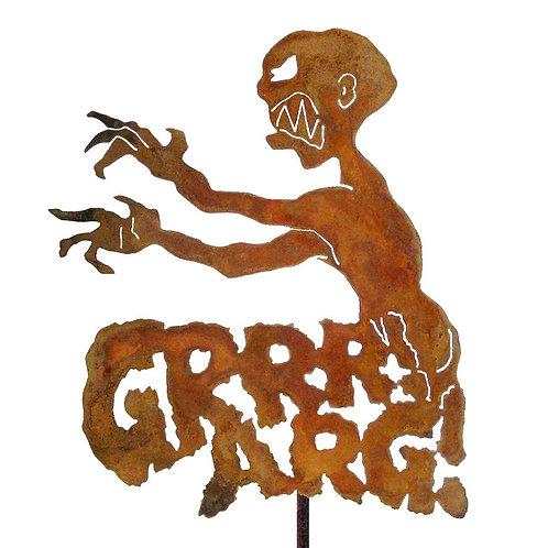Grrr! Arrgh! Metal Garden Stake