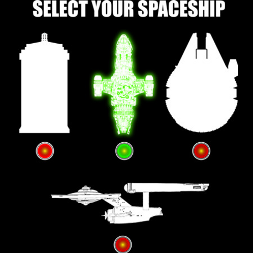Select Your Spaceship Tshirt