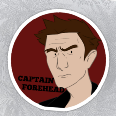 Captain Forehead Sticker