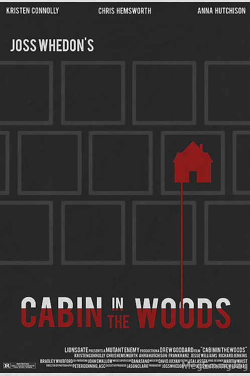 Cabin In The Woods Minimalist Poster