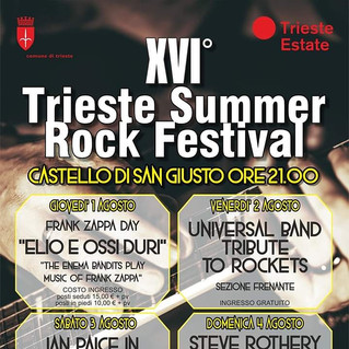 Rockets tribute al Summer Rock Festival di Trieste il 2 Agosto!