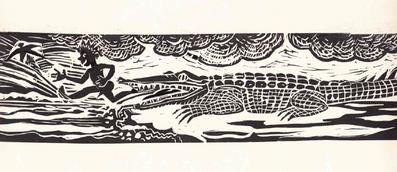 L'alligator (épreuve d'artiste, DR)