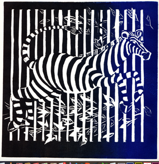Le zèbre (épreuve d'artiste, DR)