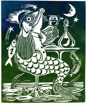Le poisson sans souci (épreuve d'artiste, DR)
