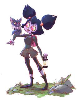 Vamp Girl and Bat Friend