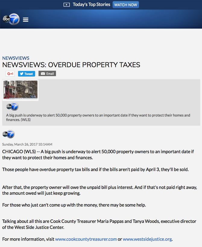 NEWSVIEWS: OVERDUE PROPERTY TAXES