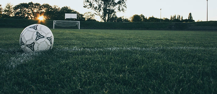 soccer field at sunrise