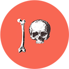 patreon logo with skull