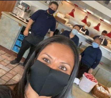 Country Waffles staff in their kitchen
