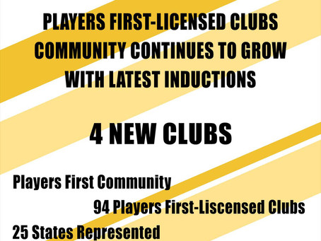 Players First-Licensed Clubs Community Continues To Grow With Latest Inductions