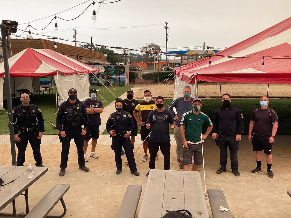 DSAL crew wearing Covid masks