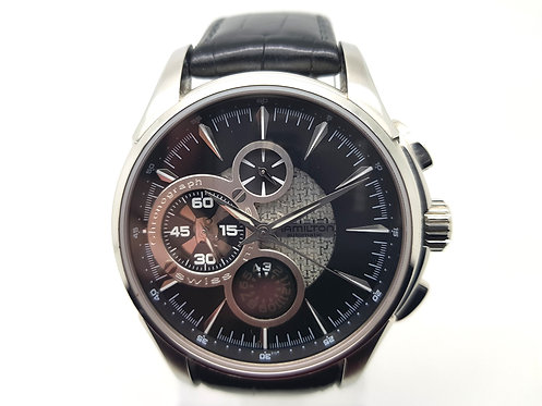 Hamilton Jazzmaster Open Secret Chronograph black dial
