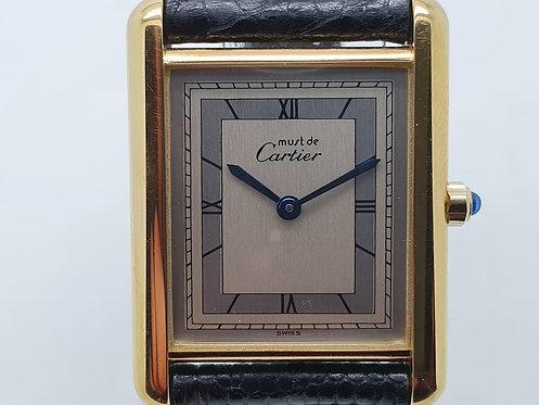 Cartier Must De Tank Watch 6 81006 silver dial