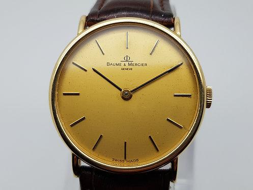 Baume Mercier 18ct gold Vintage Wrist Watch 35103 gold dial