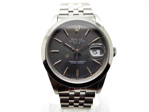 Rolex Oyster Perpetual Date 15200 Rhodium dial front view