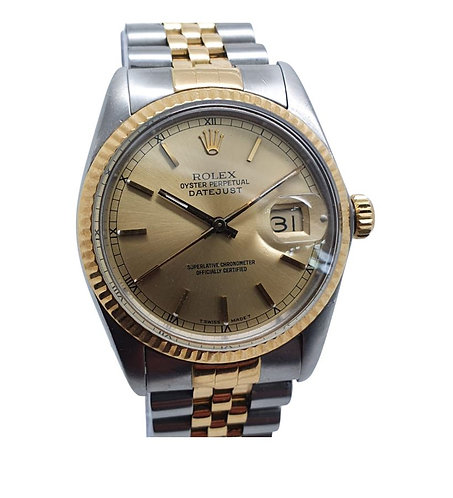 Rolex Oyster Perpetual 16063  Front  gold  dial ZOOM