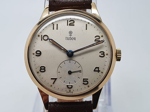 Tudor 9Ct Gold Vintage Manual Winding front view