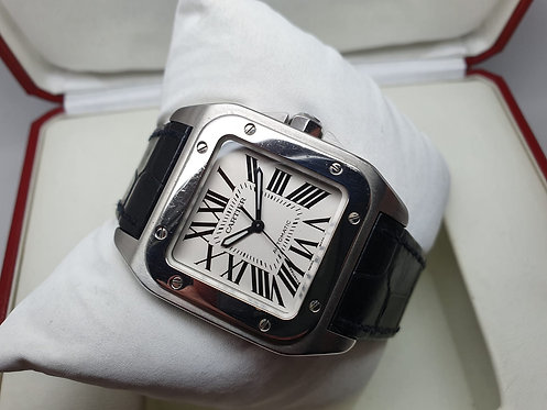 Cartier Santos 100 2878 on cusion