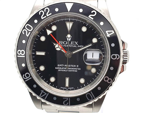 Luxury Watches Online Rolex GMT-Master II 16710 Front black dial