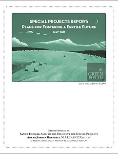 Special Projects Report for Greenfield Community College
