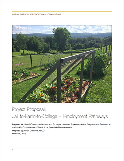 Jail-to-Farm-to-College & Employment Pathways