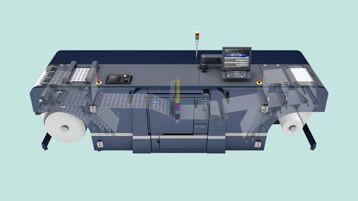 AccurioLabel 230 PaperPath Maschine C4D