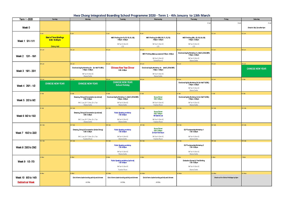 2020 term 1 IBP schedule - updated 13Jan