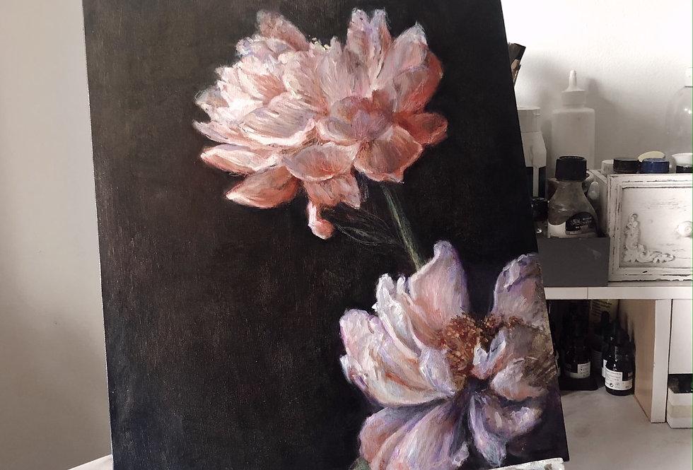 """flower study"" original painting"