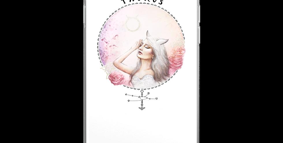 """""""taurus"""" white iphone case"""