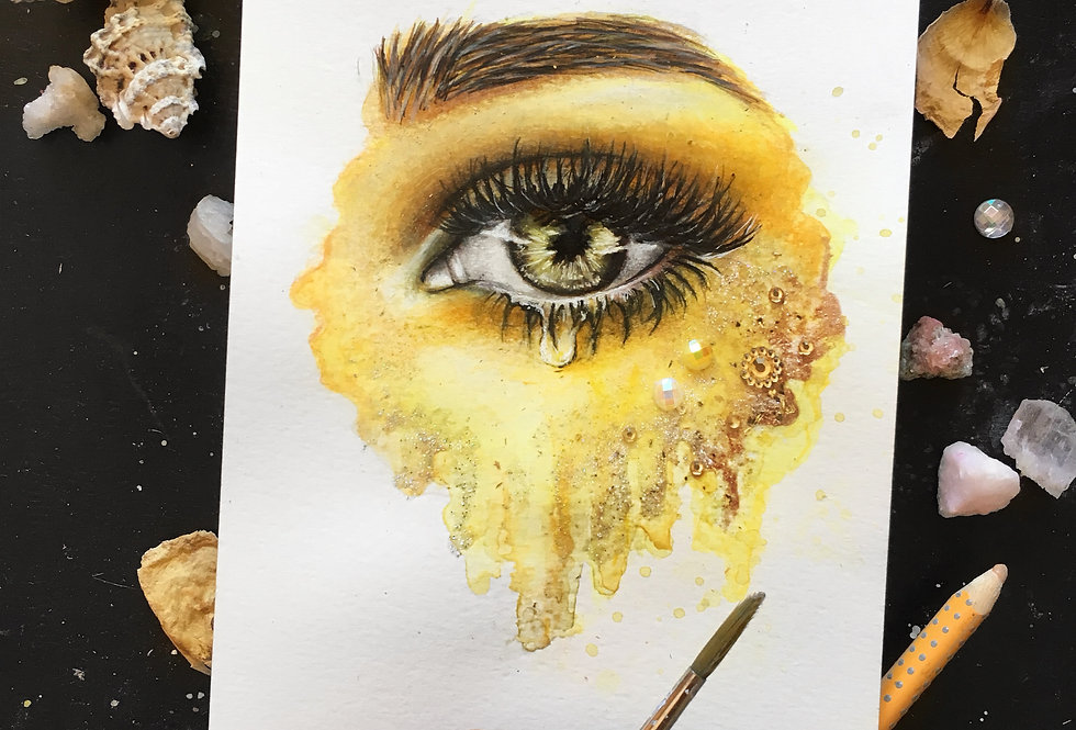"""""""light in your eyes"""" print"""