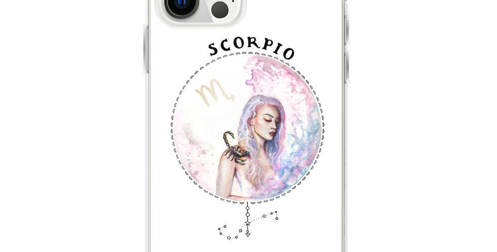 """""""scorpio"""" white iphone case"""