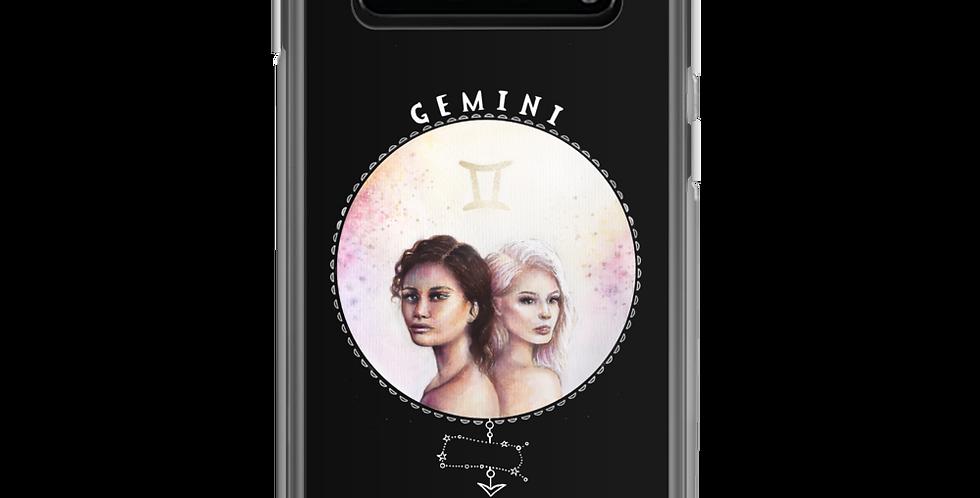 """""""gemini"""" black samsung case"""