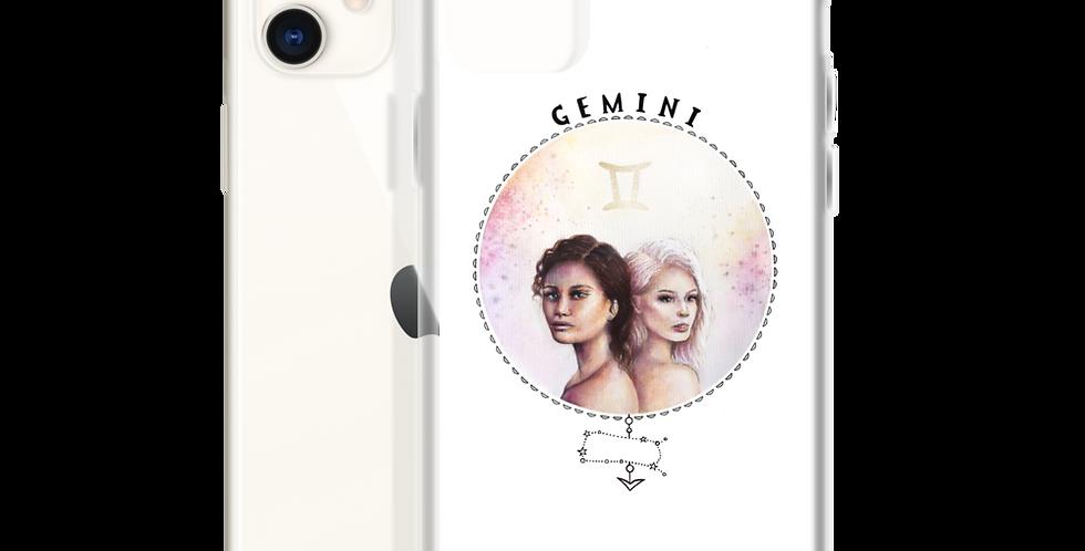 """""""gemini"""" white iphone case"""