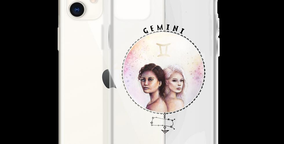 """""""gemini"""" clear iphone case"""