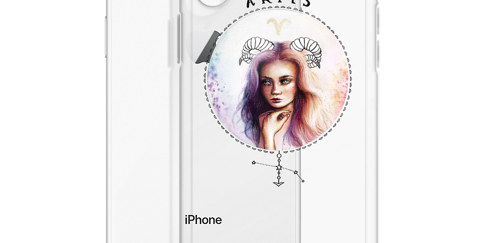 """aries"" clear iphone case"