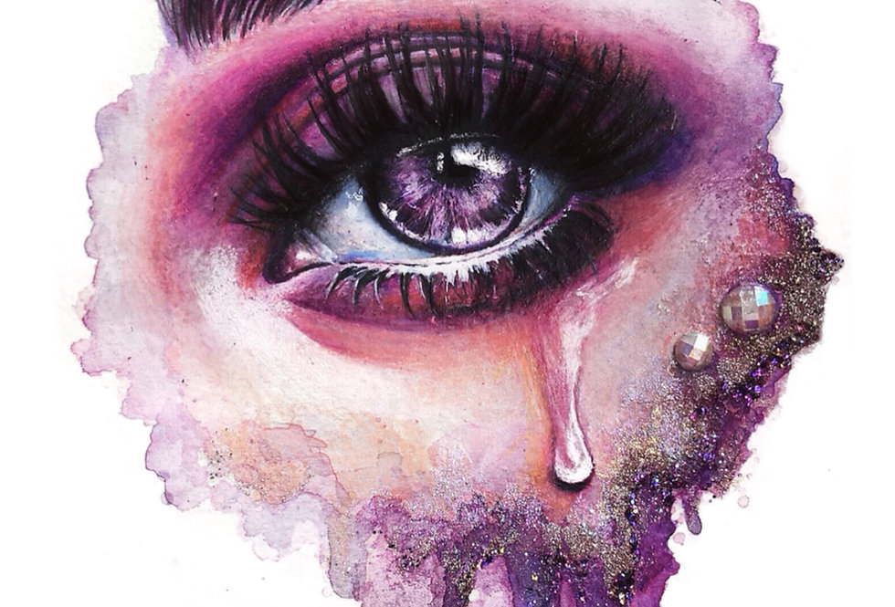 """lilac skies"" print"