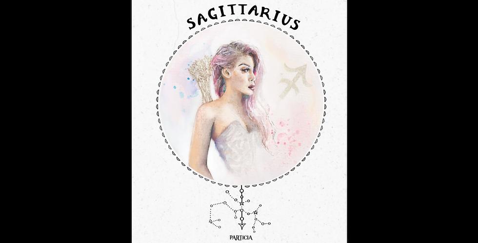 """""""sagittarius"""" vintage texture print"""