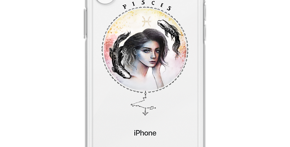 """pisces"" clear iphone case"
